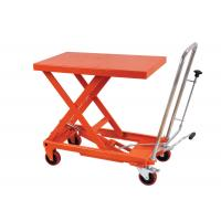 China Manual Hand Portable Hydraulic Lift Table Rental , Single Scissor Lift Table For Cargo wholesale