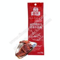 Buy cheap Original beef jerky bars and strip vacuum bags with Euro slot and tear notch from wholesalers