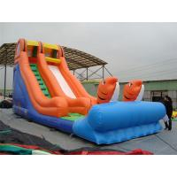 China Rotating Large Inflatable Water Slides With Inflatable Trampoline Jumping Bouncer wholesale