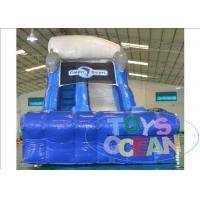 China Blue Dolphin PVC Inflatable Water Slide With Pool For Backyard Party Rental wholesale