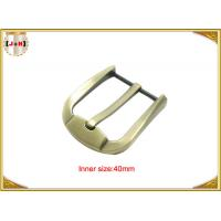 China Fashion Gold Zinc Alloy Pin Belt Buckle For Man / Boy 40mm Customized wholesale