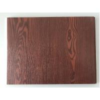 China Fireproof  PVC Garage Wall Panels With Wooden Lamination Width 40cm wholesale