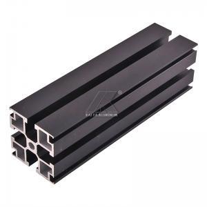 China Aluminum T-slot extrusion aluminum profile black 6000 series T5 anodized on sale