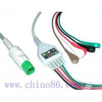 China Hellige one piece five lead ECG cable with leadwire wholesale
