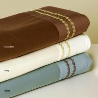 China Embroidered Dot 300 Thread Count Sheet Set wholesale