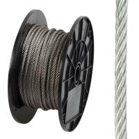 China 3/16 In x 125 ft Stainless Wire Rope , Uncoated Stainless Steel Rope for guy wires wholesale