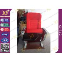 China University Furniture Floor Mounted Top Aluminum Base Conference Hall Chairs With Painted Back wholesale