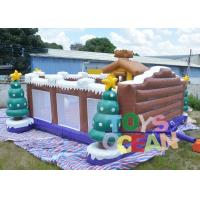 Quality 8 X 8m Large Christmas Inflatable Playground Inflatable Snowman Bouncy Castle for sale
