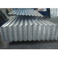 Quality AA1050 1060 Corrugated Aluminum Roofing Sheet Width 820mm - 1000mm Silver Color for sale