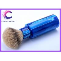 China Men's shaving kit  blue color handle travel shaving brushes with stand wholesale