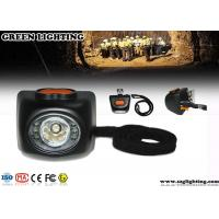 China 4000 Lux Brightness Mining Cap Lights With OLED Display 4.5Ah Li - Ion Battery wholesale