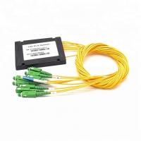 China 1x8 PLC Optical Cord Splitter , Optical Wire Splitter For Rack Mounted Fiber Terminal Box wholesale