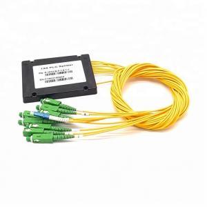 China 1x8 PLC Optical Cord Splitter , Optical Wire Splitter For Rack Mounted Fiber Terminal Box wholesale