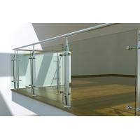 China Interior Stainless Steel glass balustrade fittings, laminated glass balustrade wholesale