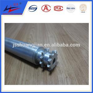 China Single or double steel sprocket roller, grooves belt pipe conveyor rollers wholesale