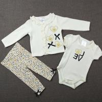 China Casual White Newborn Baby Clothes Set , Briantex Knitted Baby Clothing Set wholesale