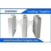 China 30-40 Person / Minute Electronic Retractable Barrier Gate With Glass Flap Arm wholesale