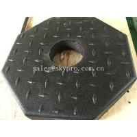 China Outside use black pole rubber pedestal / octagon crumb rubber base support wholesale