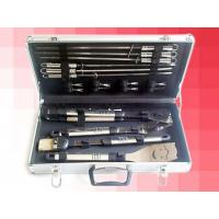China BBQ18SPA  18pc BBQ tool set with S/S handle in Aluminum case wholesale