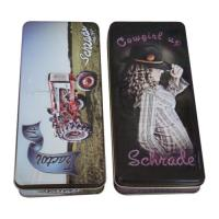 China Embossing Pencil Tin Box With Different Artwork  ,174 x 74 x 27mm wholesale