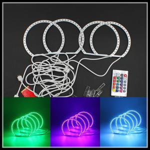 China 5050 SMD RGB LED Angel Eyes Multi-color Headlight with Halo Ring Remote Control RGB Kit for BMW E46 E39 M3 E36 E38 wholesale
