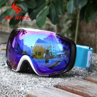 China Wear Over Glasses Mirrored Ski Goggles Low Light For Prevent Snow Blindness wholesale