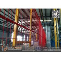 Red powder coat temporary fencing panels