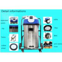 China Yellow powerful 50L Small Industrial Wet Dry Vacuum Cleaners Low Noise wholesale