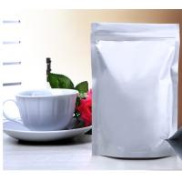 China Glossy Silver Aluminum Foil Packaging Bags Zipper Self Standing on sale
