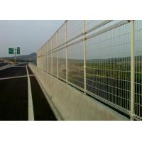 China Green Powder Coated Steel Wire Fencing Security For Highway , 48mmx1.0mm Size wholesale