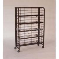 China 4 - Caster Metal Wire Multi Function Floor Display Stand For Retail Store wholesale