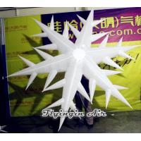 Customized Inflatable Snow flower, Inflatable Snowflakes for Christmas Party Decoration