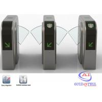 China DC24V retractable Controlled Access Turnstiles wirh card reader identification equipments wholesale