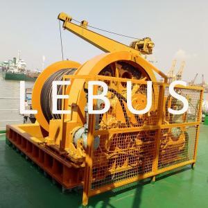 China Electric / Hydraulic Crawler Crane Winch Crane Windlass Groove Drum 3 MM~190 MM Dia wholesale