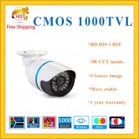 "China 1/3"" CMOS camera 1000TVL with IR-CUT bullet security Camera 24 IR indoor outdoor camera CCTV Camera cctv system wholesale"