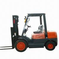 China Forklift, Gasoline Forklift Truck with 3.5T Rated Loading Capacity wholesale