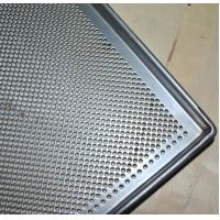 China Metal Perforated Baking Serving Tray For Oven , Stainless Steel Food Tray wholesale