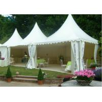 China White Pagoda Tents 5m * 5m UV - Resistant  Garden Wedding Reception wholesale
