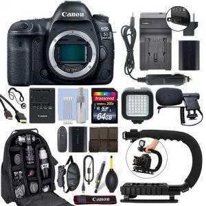 China Canon EOS 5D Mark IV 30.4MP Full Frame 4K DSLR Camera Body + 64GB Pro Video Kit wholesale