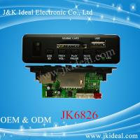 China JK6826 5V 12V usb sd mp3 player fm radio kit circuit board with bluetooth on sale