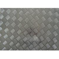China 1060 1100 3003 Aluminum Checker Plate , 0.8mm- - 10mm Thickness Embossed Aluminum Sheet wholesale