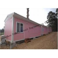 China Light Duty 40ft Prefab Container House For Temporary Accommodation With Painted Surface on sale