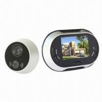 Hot Selling 3.5-inch LCD Screen Door Viewer Camera with Video Function, 0.3 Megapixels