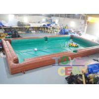 China Adults Inflatable Interactive Games Inflatable Table Snooker Pool Game With No.5 Balls wholesale