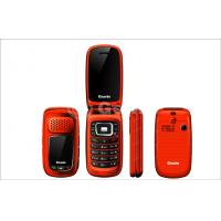 China Red Dual SIM Flip Model Mobile Phones 950mAh with Loudspeaker wholesale