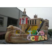 China Outdoor Commercial Inflatable Pirate Ship With Water Slide 2 Years Warranty wholesale