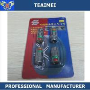 China Metal Green / Yellow / Red Tire Pressure Valve Stem Caps With Pressure Indicator wholesale