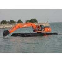 China Multifunctional Amphibious Excavator , Shallow Water Hydraulic Crawler Excavator wholesale
