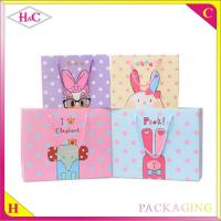 China Cute elfin hand length handle paperboard cartoon gift bag wholesale