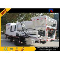 China 12600kg Weight Hydraulic Concrete Mixer Pump Truck With Double Shaf wholesale